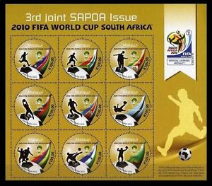 Sapoa stamp sheet South Africa 2010