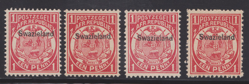 Swaziland 1889 wrong perforations forgeries